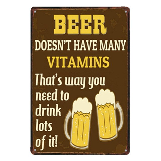 Beer Doesn't Have Many Vitamins