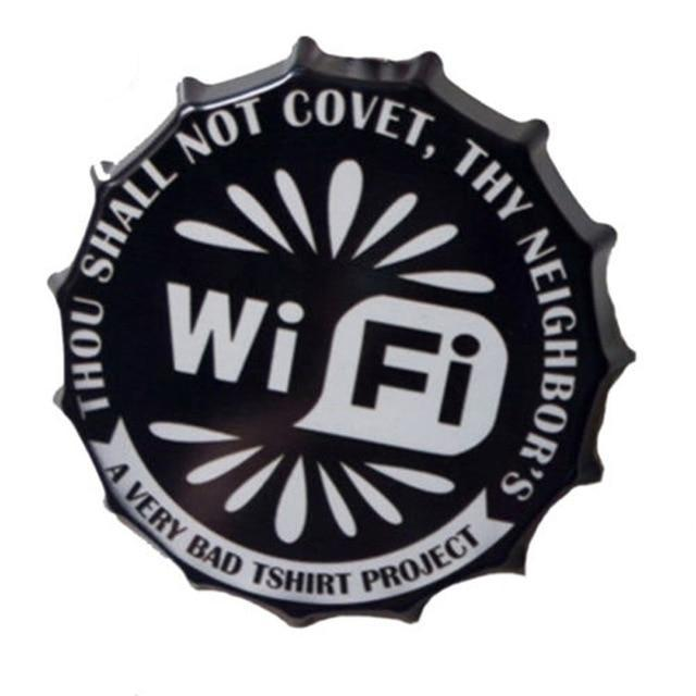 WIFI Bottle Cap Sign