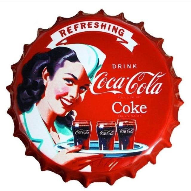 Coca Cola Bottle Cap Sign