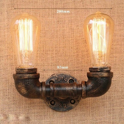 Vintage Pipe Wall Lights