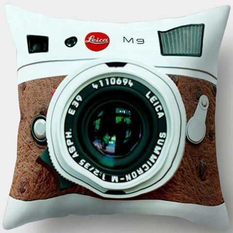 Brown Vintage Camera Pillowcase