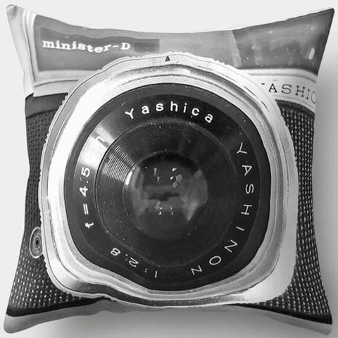 Grey Scale Vintage Camera Pillowcase