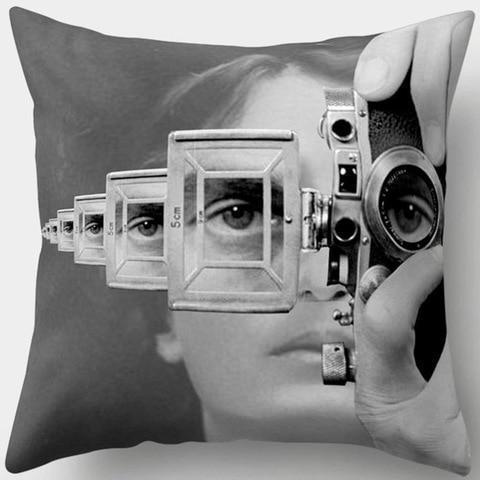 Trippy Vintage Camera Pillowcase