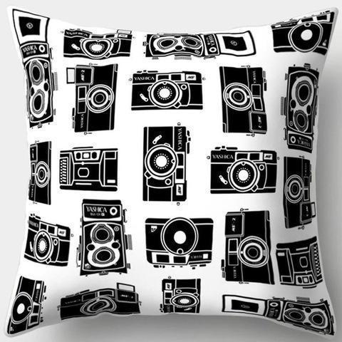 Multi Camera Vintage Pillowcase