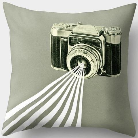 Flash Vintage Camera Pillowcase