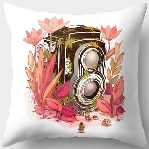Flower Vintage Camera Pillowcase