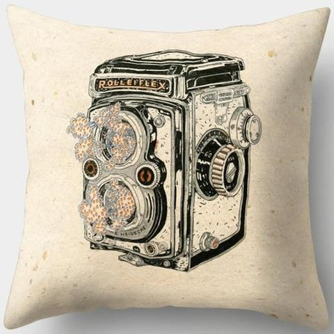 RolleFex Vintage Camera Pillowcase