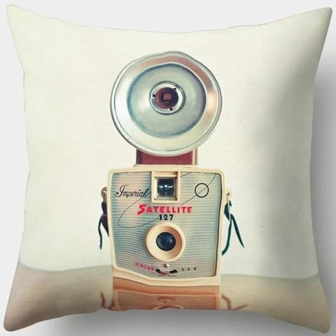 Satellite Vintage Camera Pillowcase