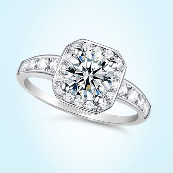 14kt Gold Cushion Cut Classic Halo Chardae Engagement Ring
