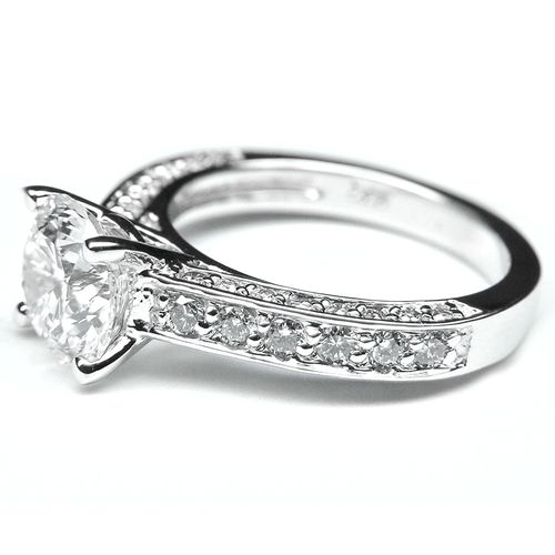 Sterling Silver Delilah Round Cut Engagement Ring