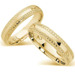 9kt Gold 5mm His and Hers Wedding Bands