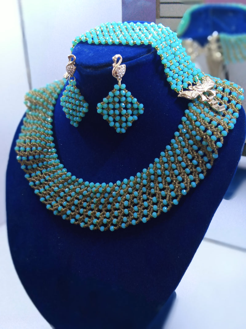 Turquoise Chocker Necklace Set