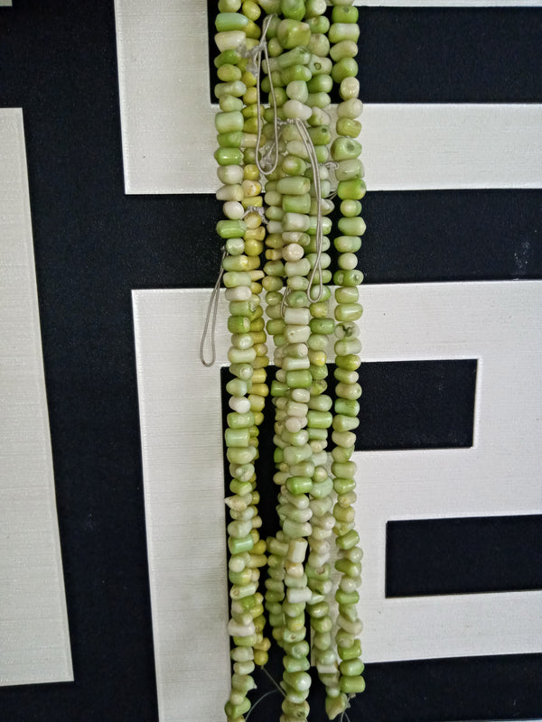 Green Coral Chips Beads per strand