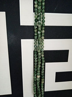 Green Tea Agate Round Beads per strand