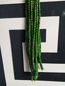 Green Crackle Beads per strand