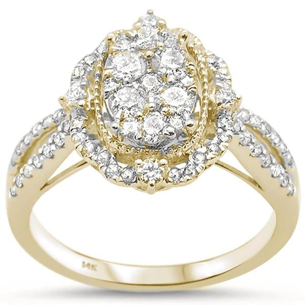 14kt Gold Vanessa 0.90 CT Diamond Engagement Ring