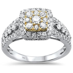 14kt Gold Two Tone 1.10 CT Theresa Diamond Engagement Ring