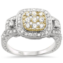 14kt Gold Two Tone 1 CT Phunmi Diamond Engagement Ring