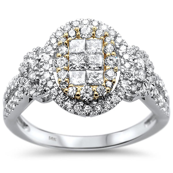 14kt Gold Two Tone 1.06 CT Lianne Diamond Engagement Ring