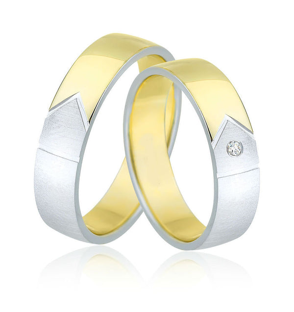 9kt Gold Heavy Weight Torres Unisex Wedding Bands