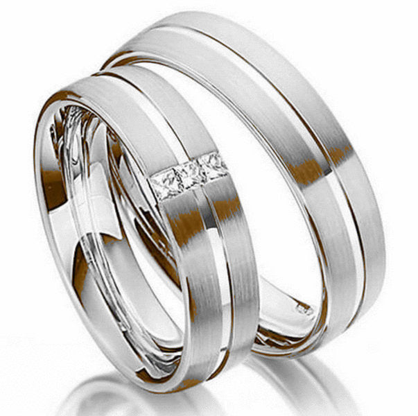 14kt Gold Christian His and Hers Wedding Bands