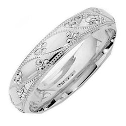 Sterling Silver Unisex 5mm Sile Wedding Band