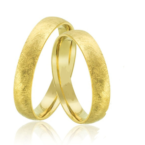9kt Gold Sadai His and Hers Wedding Bands
