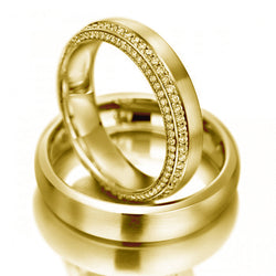 14kt Gold Jamie His and Hers Wedding Bands