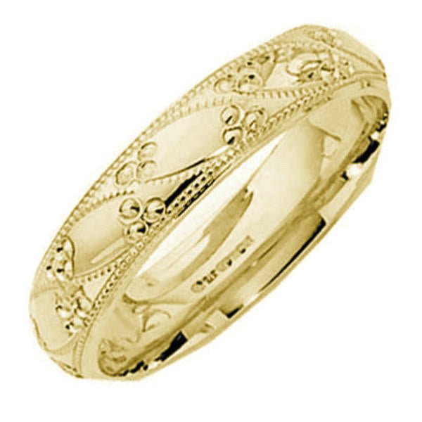 9kt Gold Unisex 5mm Sile Wedding Band