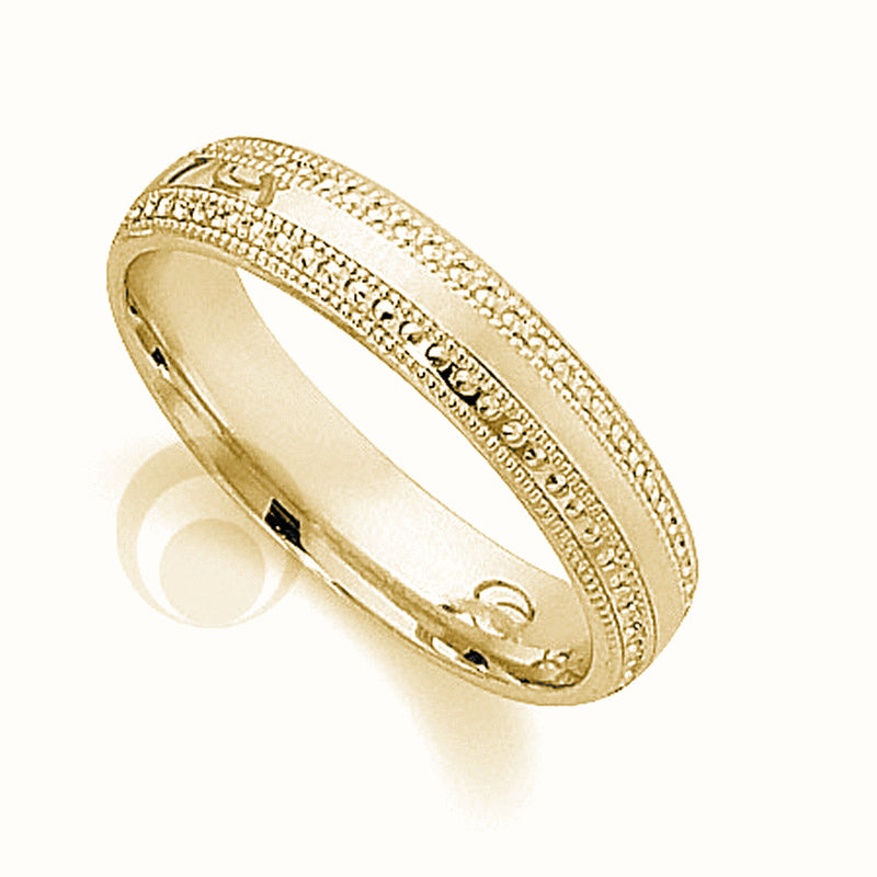 9kt Gold Unisex 5mm Travistar Wedding Band