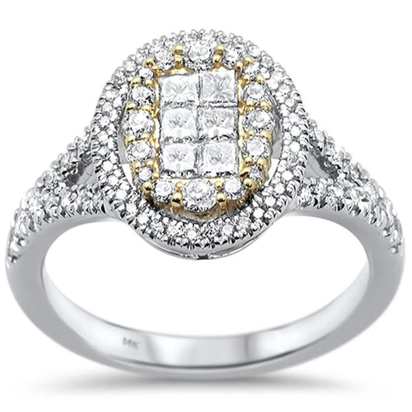 14kt Gold Two Tone 0.93 CT Elisa Diamond Engagement Ring