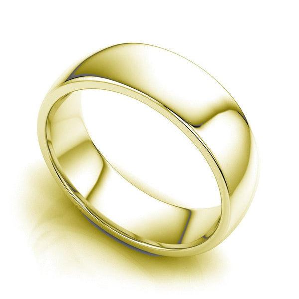 18kt Gold Plain James Unisex Wedding Band