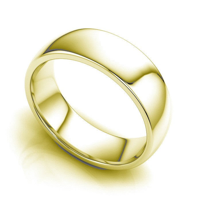 9kt Gold Plain James Unisex Wedding Band