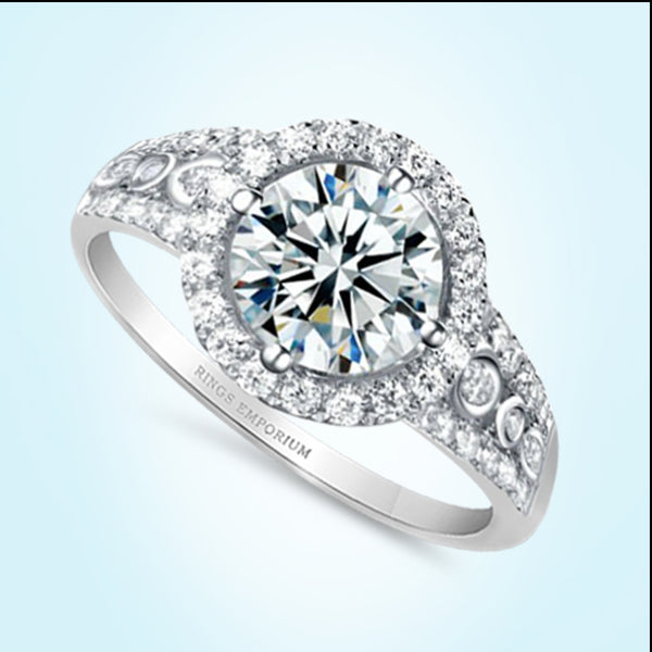 9kt Gold Round Cut Prairie Engagement Ring