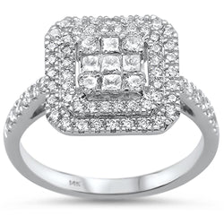14kt Gold Hadiere 0.83 CT Diamond Engagement Ring