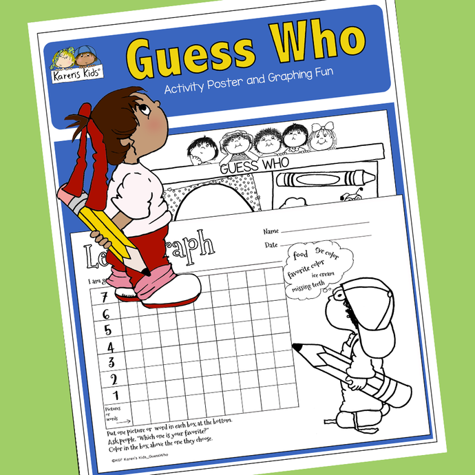 GUESS WHO Poster and Graph (Karen's Kids Printables)