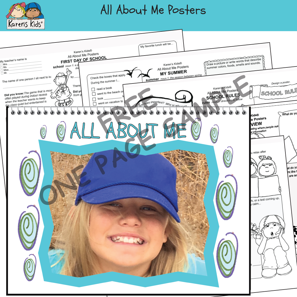 All About Me poster FREE sample