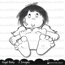 Load image into Gallery viewer, Digital Stamp Angel Baby