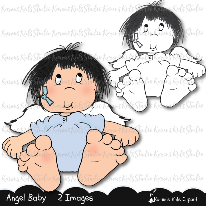 Digital Stamp Angel Baby