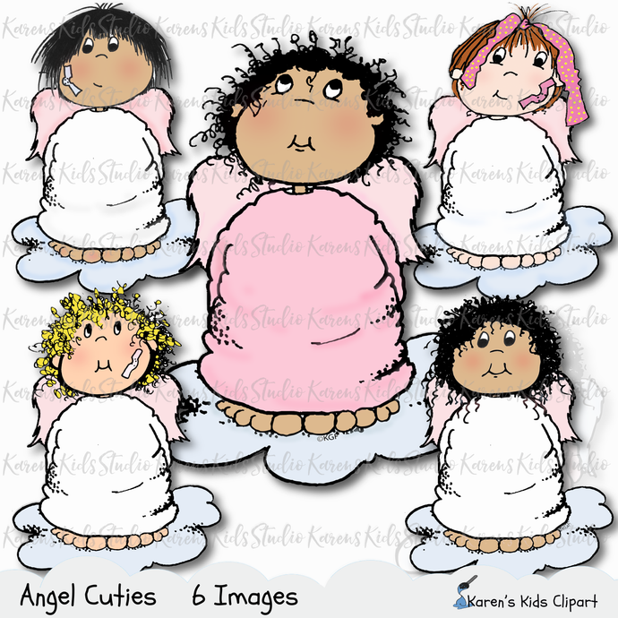 Digital Stamp 5 ANGEL CUTIES