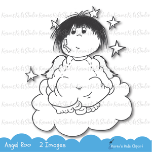 Digital Stamp Angel Roo