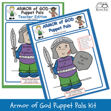 Load image into Gallery viewer, ARMOR of GOD PUPPET PALS Activities Kit