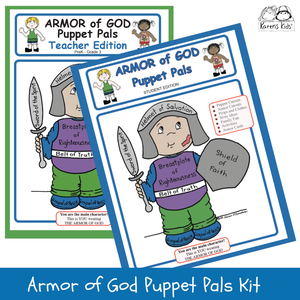 ARMOR of GOD PUPPET PALS Activities Kit