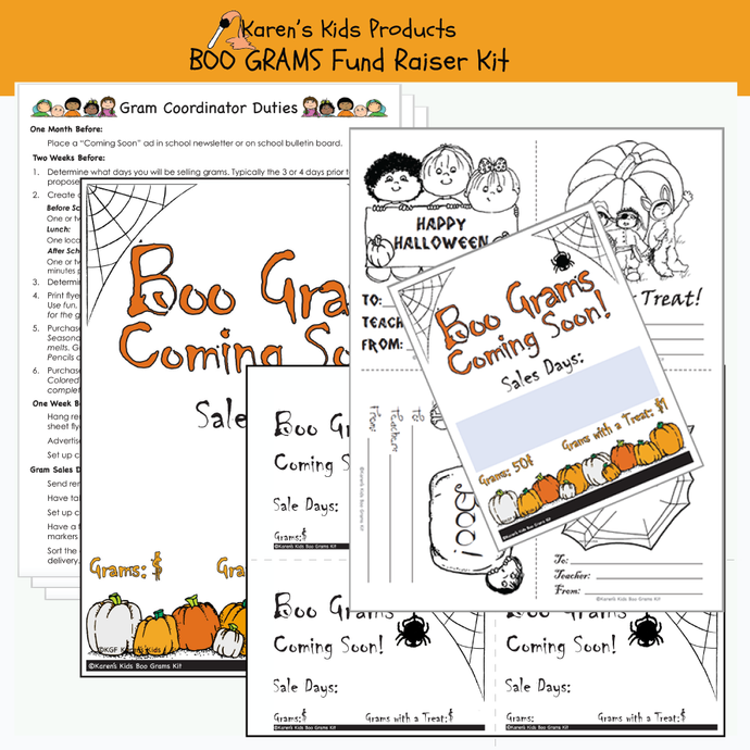 Boo Gram Fundraiser kit for schools and organizations