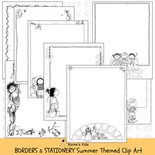 Load image into Gallery viewer, BORDERS Summer Themed Borders Clip Art