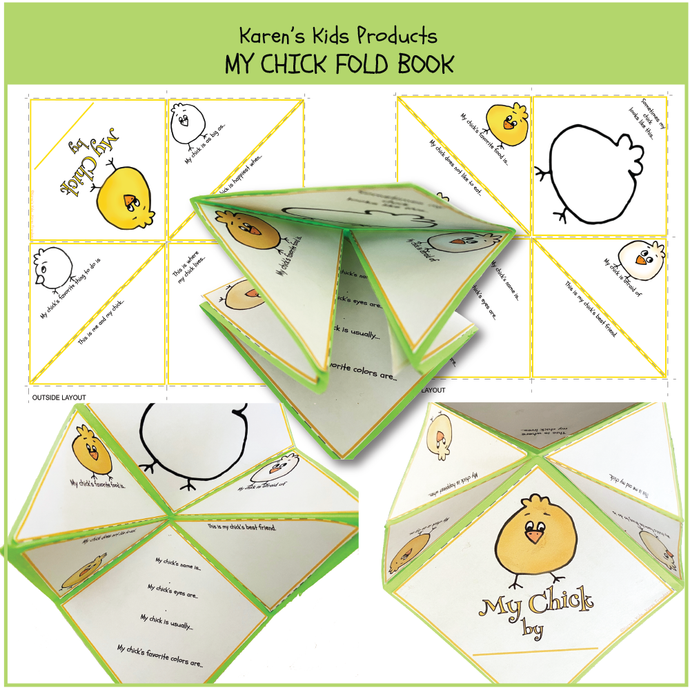 FREE CHICK FOLD BOOK (Karen's Kids Printables)