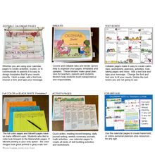 Load image into Gallery viewer, Editable SCHOOL CALENDARS for Teachers and Students _ NEW!(Karen's Kids Printables)
