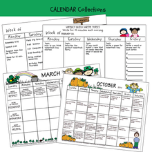 Load image into Gallery viewer, CALENDAR Annual, Monthly, Weekly Set  Editable Printables