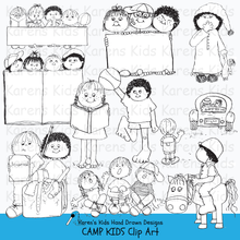 Load image into Gallery viewer, Kids and camp clip art
