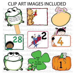 CALENDAR Number Cards Ready to Use PLUS Clipart (Karen's Kids Studio)